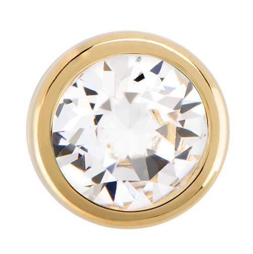 BS1013 Gold Bezel Accent Slider with Swarovski Crystal V2 copy